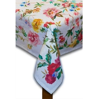 Link to Coventry  Cotton and Polyester Tablecloth Similar Items in Table Linens & Decor