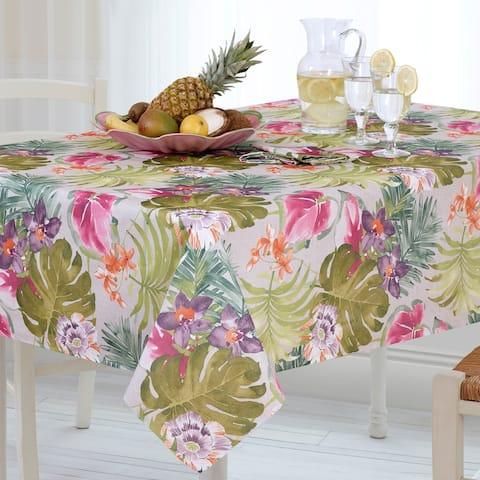 Kona Tropics Stain Resistant Indoor Outdoor Tablecloth