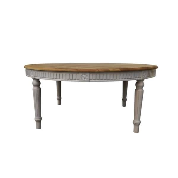 Bali 120 Solid Wood Round Dining Table Natural Oak White On Sale Overstock 27190606