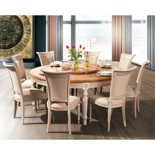 Bali 180 Solid Wood Round Dining Table Natural Oak White N A On Free Shipping Today 27190610