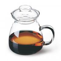 Simax Glassware Jana 2.5-Cup Short Spout Clear Borosilicate Teapot 3553
