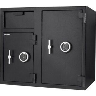 Barska 2.58/4.68 Cubic Ft Locker Depository Safe - Black