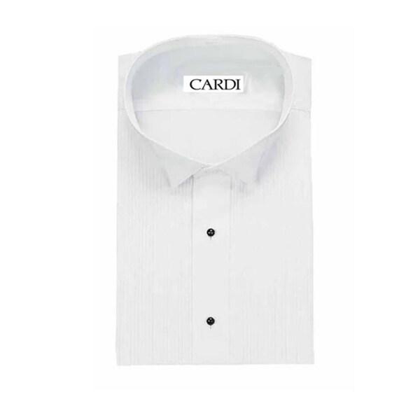 Neil Allyn Mens SLIM FIT Lay-Down Collar 1//4 Pleats Tuxedo Shirt