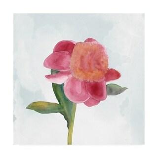 Alicia Ludwig 'Joyful Peony III' Canvas Art