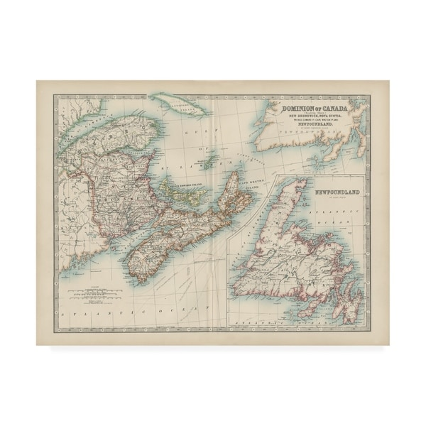 Map Of Canada Today.Shop Johnston Johnstons Map Of Canada Canvas Art Free Shipping