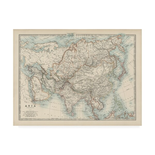 Map Of Asia Today.Shop Johnston Johnstons Map Of Asia Canvas Art Free Shipping