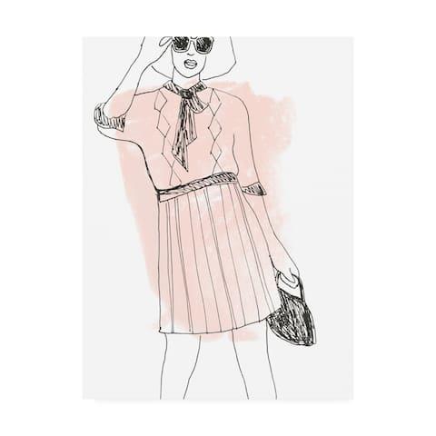June Erica Vess 'Fashion Sketches I' Canvas Art
