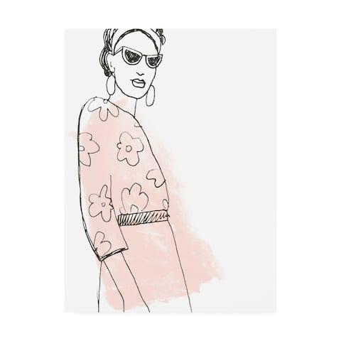 June Erica Vess 'Fashion Sketches III' Canvas Art