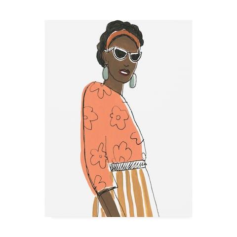 June Erica Vess 'Fashion Vignette III' Canvas Art