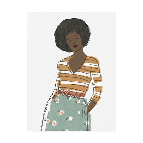 June Erica Vess 'Fashion Vignette II' Canvas Art