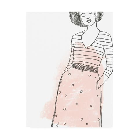 June Erica Vess 'Fashion Sketches II' Canvas Art