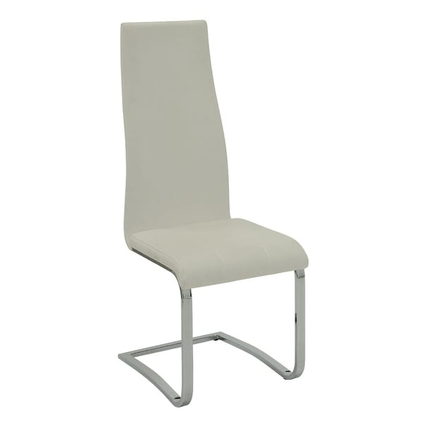Modern Uphostered Dining Chair-White