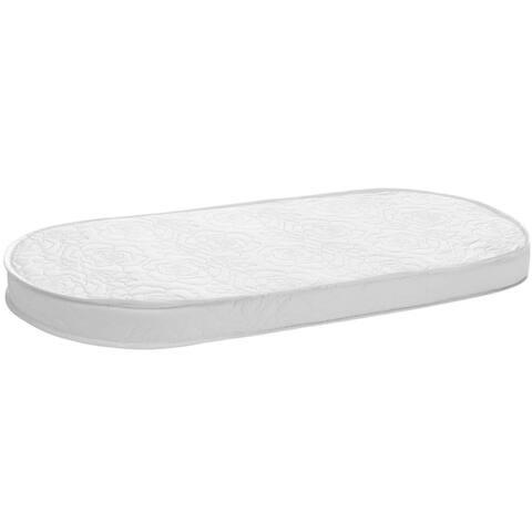 "Big Oshi 2"" Foam Bassinet Mattress, White"