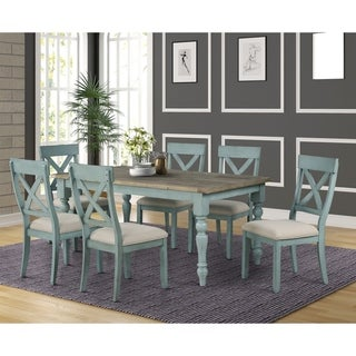 Link to The Gray Barn Spring Mount 7-piece Dining Table Set with Cross Back Chairs Similar Items in Dining Room & Bar Furniture