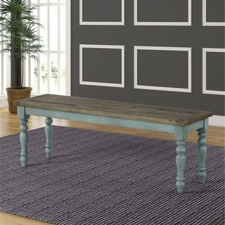 Link to Prato Two-Tone Wood Upholstered Dining Bench - N/A Similar Items in Kitchen & Dining Room Chairs