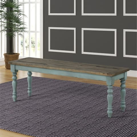 Prato Two-Tone Wood Dining Bench