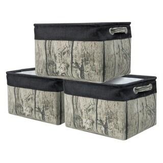 Twill Storage Baskt Set - 3 Pack