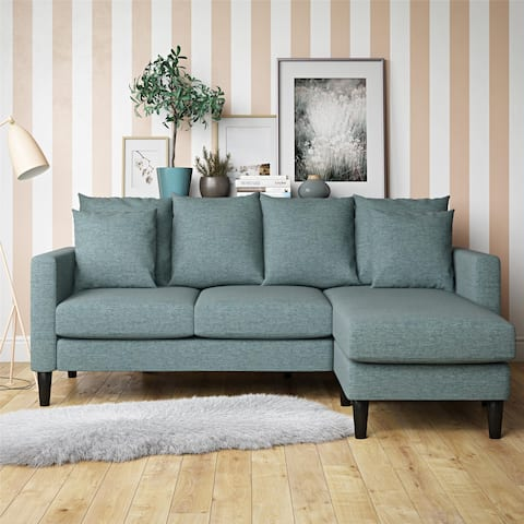 Copper Grove Tournai Reversible Sectional Sofa with Pillows