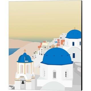 Gurli Soerensen 'Travel Europe--Santorini' Canvas Art