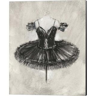 Ethan Harper 'Black Ballet Dress II' Canvas Art