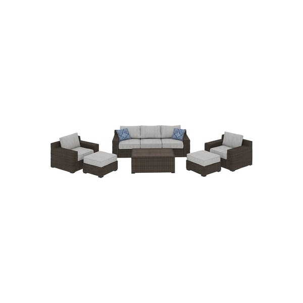Merveilleux Shop Alta Grande 6 Piece Outdoor Conversation Set With Sofa   Brown   On  Sale   Free Shipping Today   Overstock   27192345