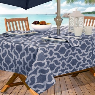 Sydney Geometric Stain Resistant Indoor Outdoor Tablecloth