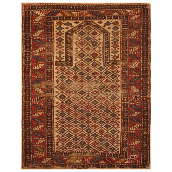 Kind Dagestani Wool Prayer Rug