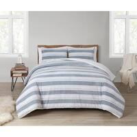 The Gray Barn Sleeping Hills Reversible Plush Sherpa Comforter Set