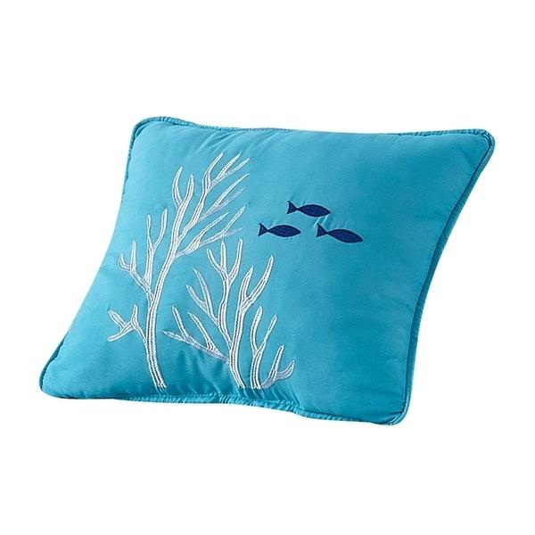 Porch & Den Embroidered Reef Throw Pillow