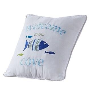 Porch & Den Embroidered Script 16-inch Throw Pillow