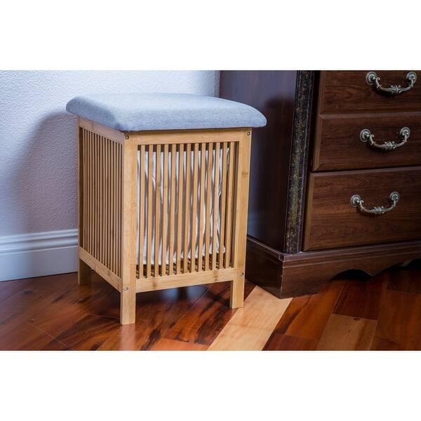 Awe Inspiring Shop Zora Multi Purpose Bamboo Storage Basket Ottoman 21 Inzonedesignstudio Interior Chair Design Inzonedesignstudiocom