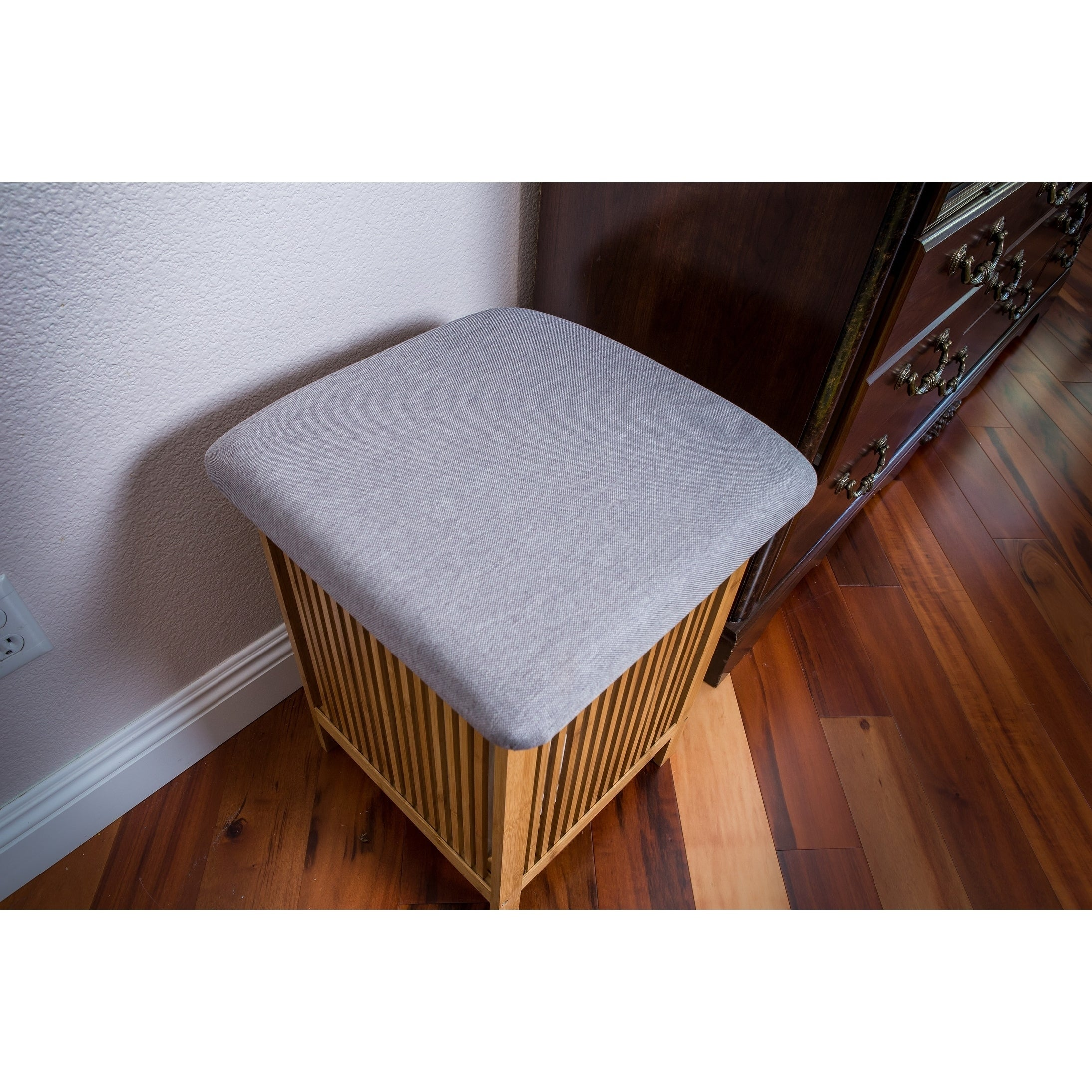 Marvelous Zora Multi Purpose Bamboo Storage Basket Ottoman 21 Inch Tall Inzonedesignstudio Interior Chair Design Inzonedesignstudiocom