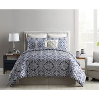 VCNY Home Sofital Jacquard Medallion Comforter Set