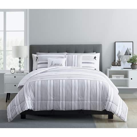 The Gray Barn Sleeping Hills Farmhouse Reversible Stripe Comforter Set