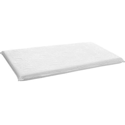 "Big Oshi 2"" Foam Cradle Mattress, White, 18"" x 36"""