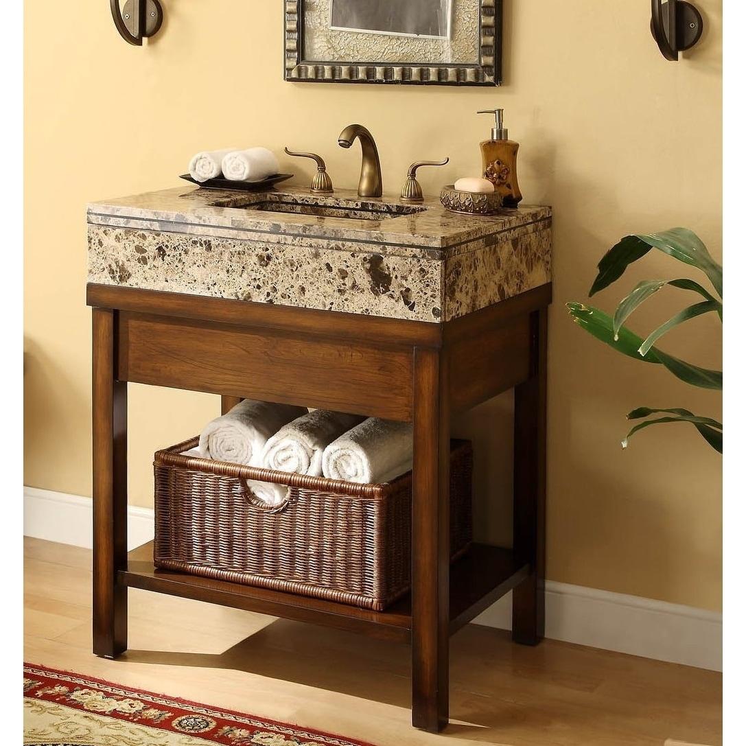 Picture of: Shop Black Friday Deals On 29 Benton Collection Darren Small Narrow Bathroom Vanity Overstock 27192606