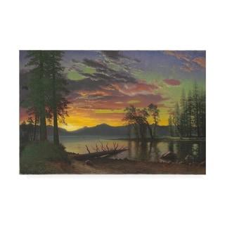 Albert Bierstadt 'Twilight, Lake Tahoe, 1870s ' Canvas Art