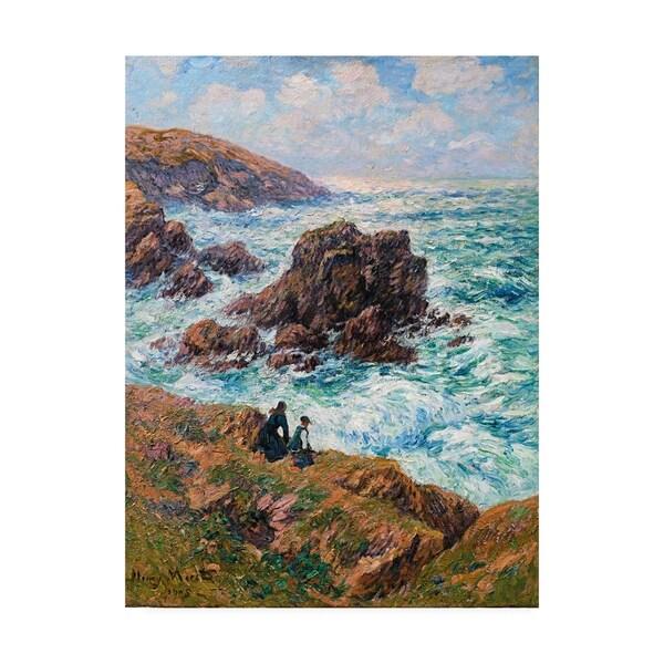 Henry Moret 'Cote de Clohars, Finistere' Canvas Art. Opens flyout.
