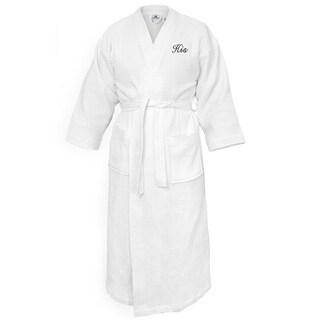 Kaufman -Terry Cloth Bathrobes 100% Cotton-His Embroidered Waffle Kimono