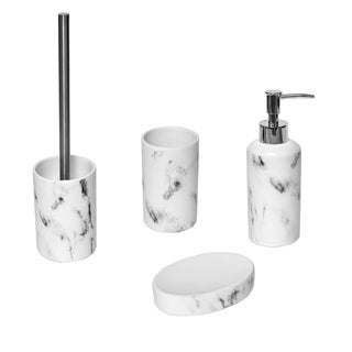 Marble Collection Bath Accessory Set 4-Pieces