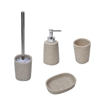 Rope Collection Bath Accessory Set 4-Pieces