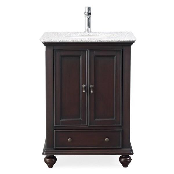 """25"""" Tennant Brand Gillian Powder Room Brown Bathroom Vanity"""