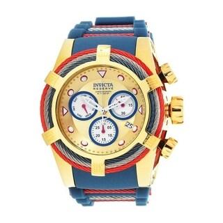 Invicta Men's Bolt 27147 Gold, Dark Blue, Stainless Steel, Red Watch
