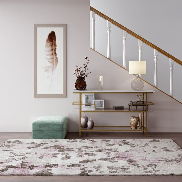 CosmoLiving Lush Collection Pink Elegance Coquette rug