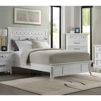 Martin Svensson Home Mendocino Solid Wood Panel Bed, White