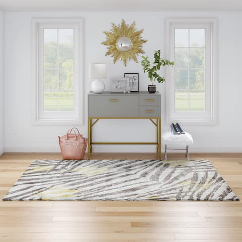 CosmoLiving Lush Collection GoldenTouch Willa rug