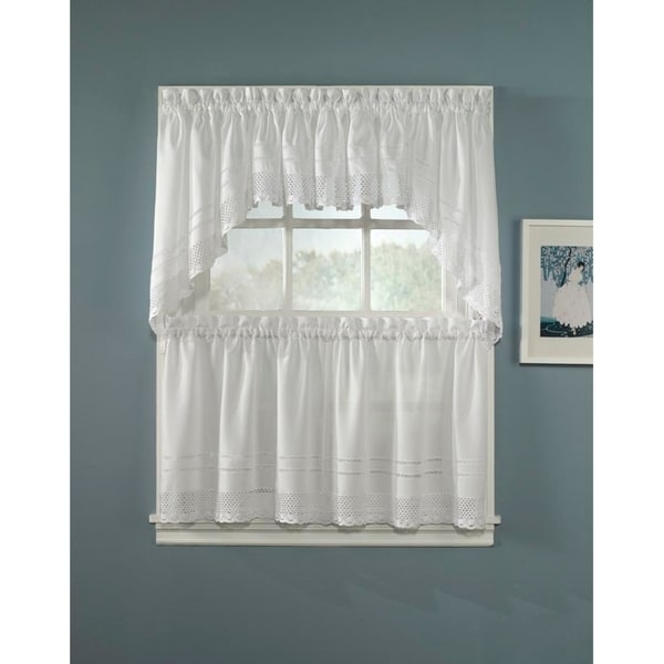 Crochet Valance, Swag and Tier Pair Curtain Collection. Opens flyout.