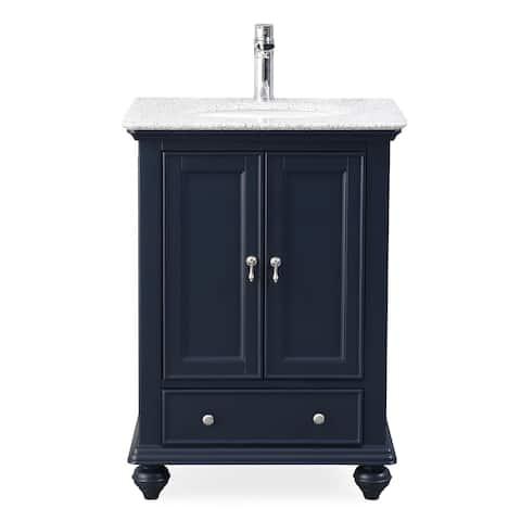 "25"" Tennant Brand Gillian Powder Room Navy Blue Bathroom Vanity"