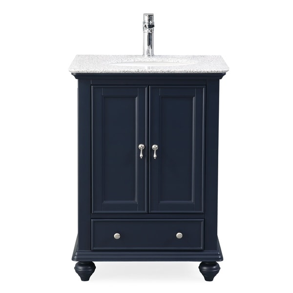 25 Tennant Brand Gillian Powder Room Navy Blue Bathroom Vanity