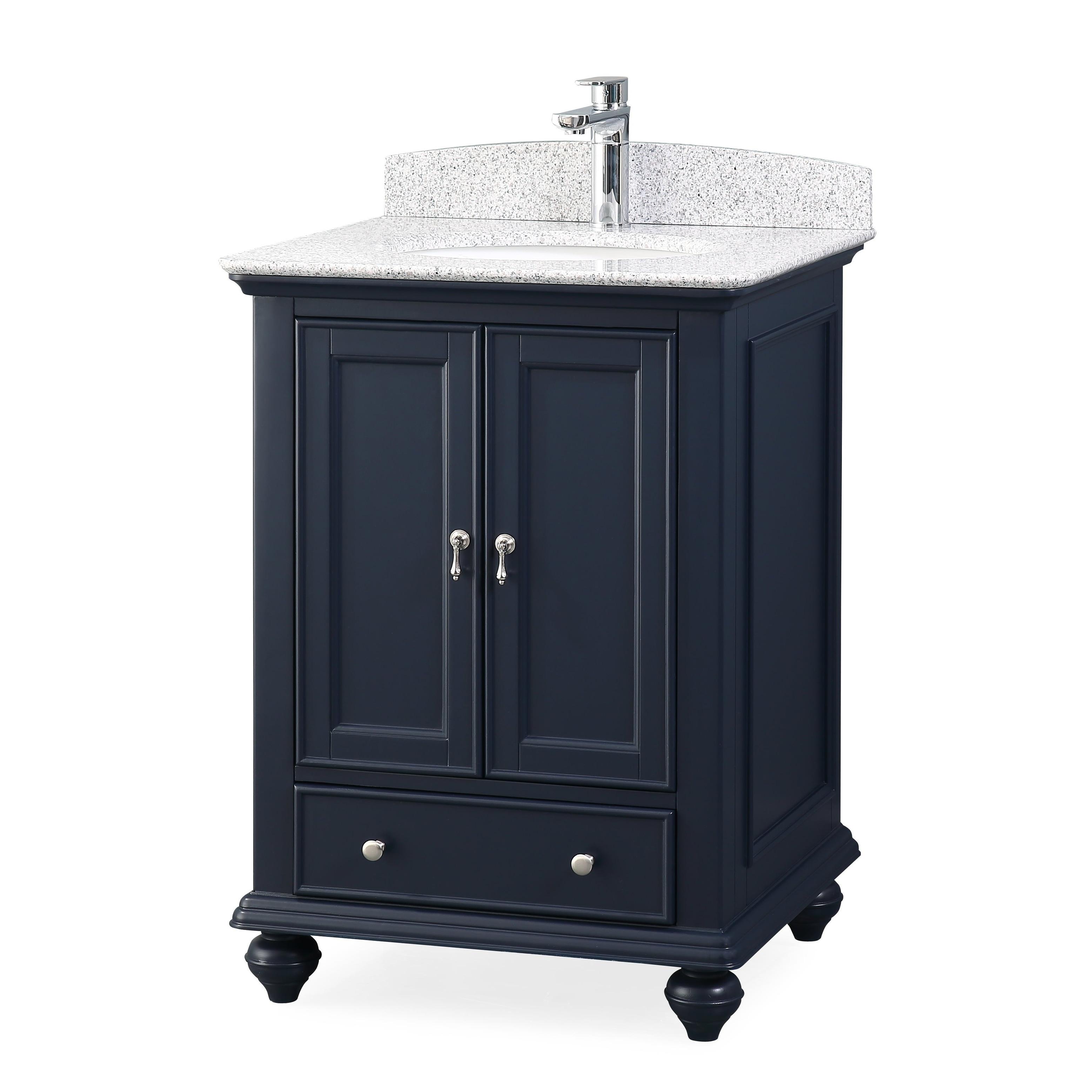 25 Tennant Brand Gillian Powder Room Navy Blue Bathroom Vanity Overstock 27193451